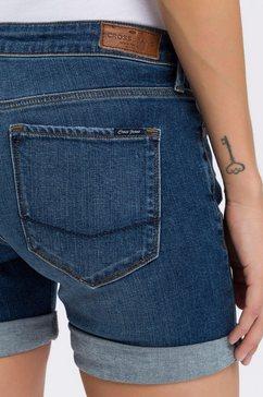 cross jeans jeansshort »zena« blauw