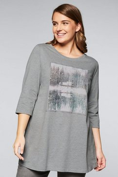 sheego casual lang shirt grijs