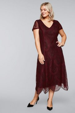 joe browns kanten jurk rood