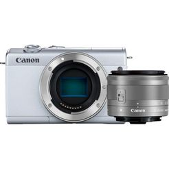 canon »eos m200 ef-m 15-45mm f3.5-6.3 is stm kit« systeemcamera wit