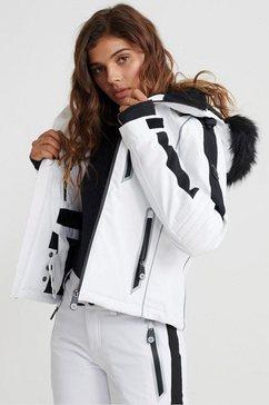 superdry softshell-jack »ski carve jacket« wit