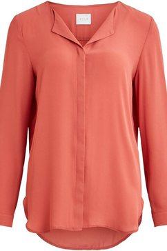 vila blouse met lange mouwen »lucy« bruin