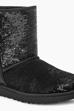 ugg boots zonder sluiting »classic short cosmos sequin« zwart