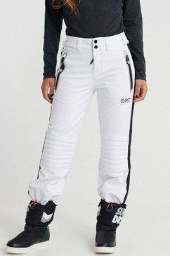 superdry skibroek »ski carve pant« wit
