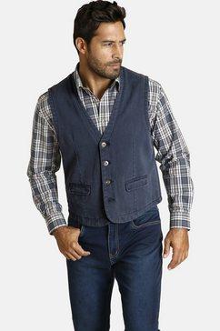 jan vanderstorm jeans vest »torell« blauw