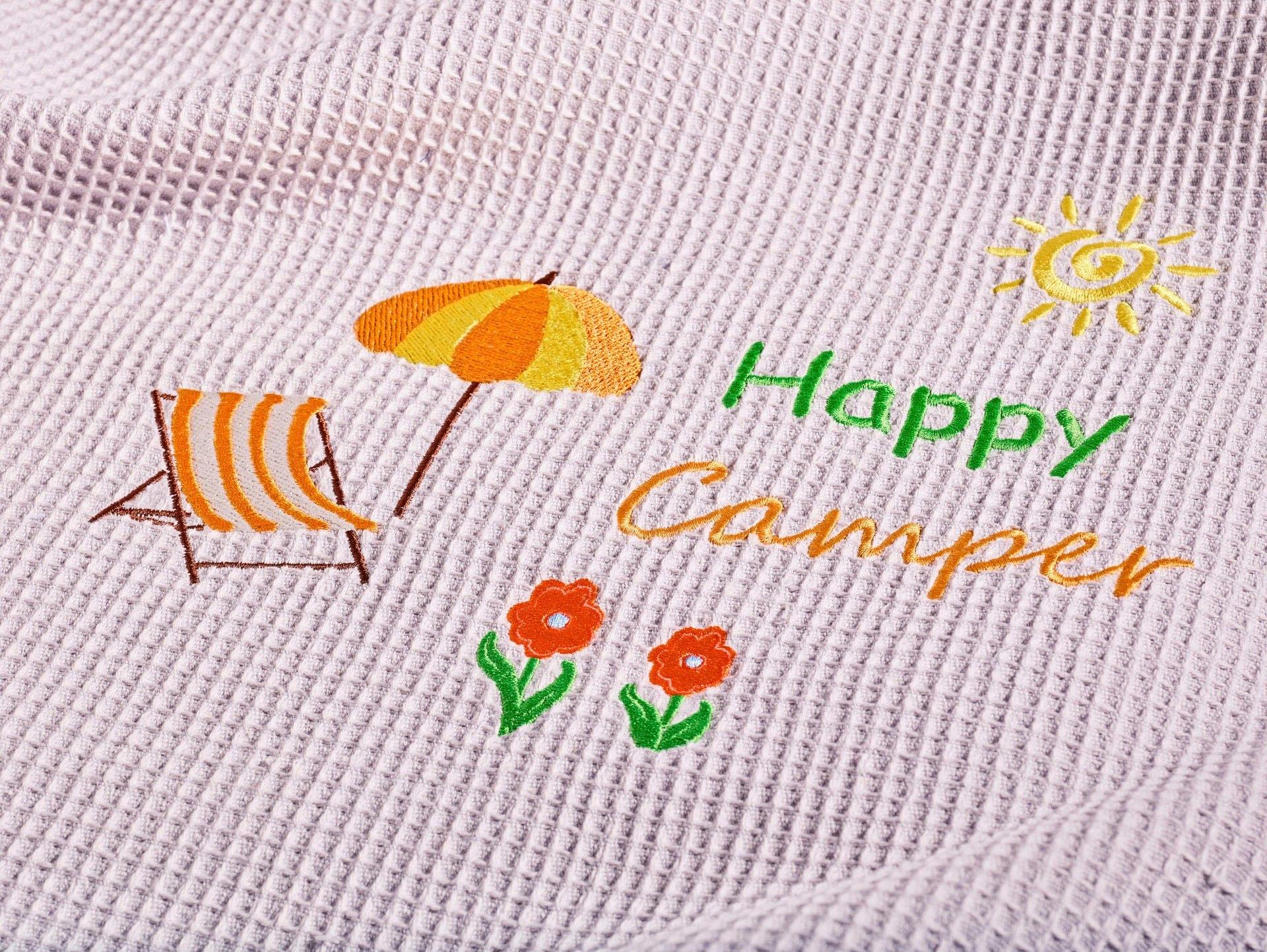 Kneer Deken Happy Camper van wafelpiqué met borduursel, ook als sprei inzetbaar bij OTTO online kopen