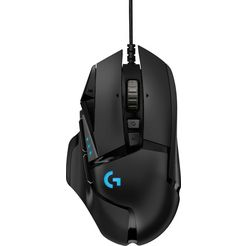 logitech »g502 hero high performance« gaming-muis (bedraad, 16.000 dpi) zwart