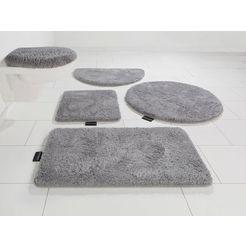 badmat »lana«, bruno banani, hoogte 25 mm, met antislip-coating, geschikt voor vloerverwarming zilver