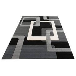my home vloerkleed maxim relifeffect, woonkamer zwart