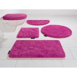 badmat »lana«, bruno banani, hoogte 25 mm, met antislip-coating, geschikt voor vloerverwarming roze