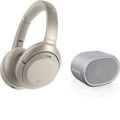 sony »wh-1000xm3 + srs-xb01 set« over-ear-koptelefoon (bluetooth nfc) zilver