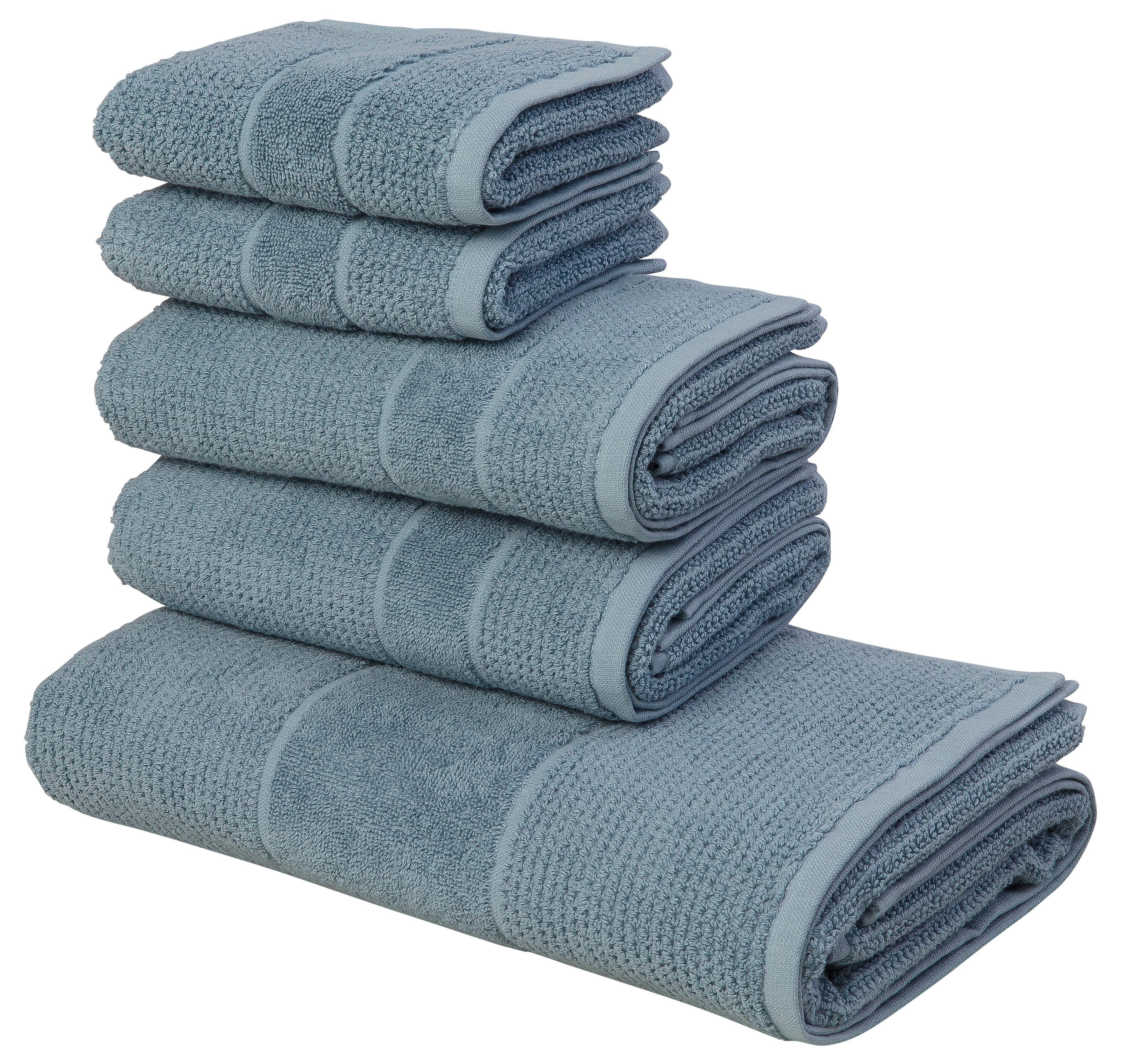 andas handdoekenset Kimi met een bijzondere structuur (set, 5-delig) - gratis ruilen op otto.nl