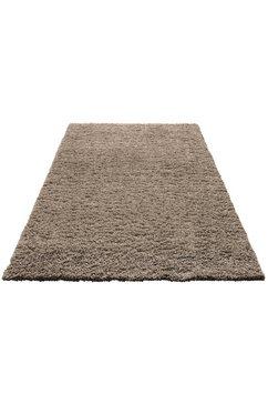 hoogpolig vloerkleed, home affaire, »viva«, hoogte 45 mm, geweven bruin