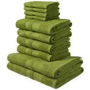 my home handdoekenset vanessa met randdessin groen