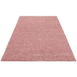 hoogpolig vloerkleed, home affaire collection, »shaggy 30«, hoogte 30 mm, geweven roze