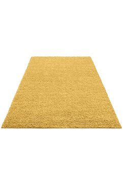 hoogpolig vloerkleed, home affaire collection, »shaggy 30«, hoogte 30 mm, geweven goud