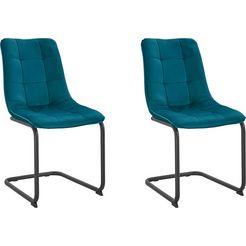 hela vrijdragende stoel jenny 2 of 4 stuks (set, 2 stuks) groen