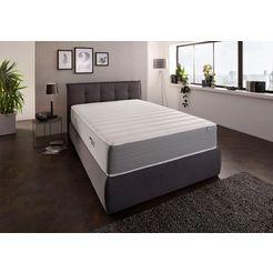 di quattro visco-matras boxspringlook extra dikke matras met zeer ventilerende zijbekleding - harde matras hoogte 30 cm wit