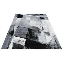 vloerkleed, »pugal«, my home, rechthoekig, hoogte 11 mm, machinaal geweven grijs