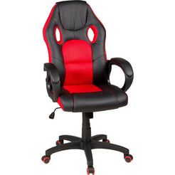 duo collection bureaustoel »riley«, gaming-chair rood