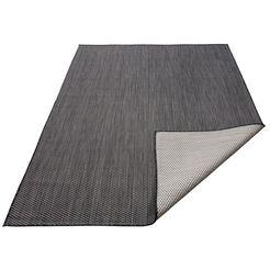 vloerkleed, »rhodos«, my home, rechthoekig, hoogte 3 mm, machinaal geweven zwart