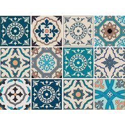 home affaire tegelsticker ornamenten multicolor