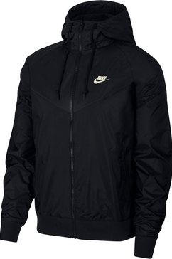nike sportswear windbreaker »nike sportswear windrunner men's hooded windbreaker« schwarz
