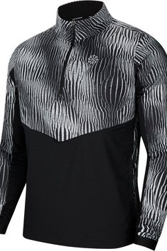 nike runningshirt »men's 1-2-zip running top« zwart