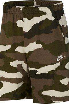 nike sweatshort »men's french terry camo shorts« groen