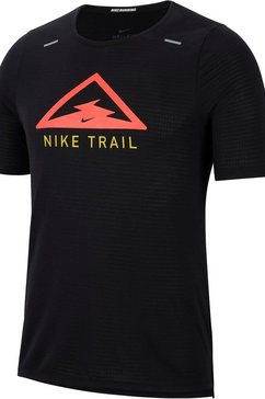 nike runningshirt »men's running top« zwart
