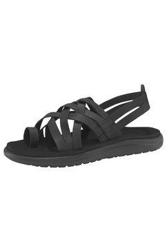teva sandalen »voya strappy leather sandal w's« zwart