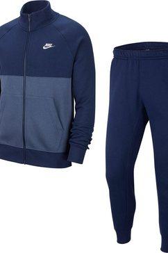 nike sportswear joggingpak »nike sportswear men's fleece tracksuit« (set, 2 tlg.) blauw
