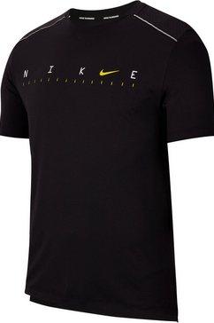 nike runningshirt »nike dry miler shortsleeves men's top« zwart