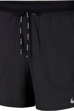 """nike runningshort »men's 5"""" brief-lined running shorts« zwart"""