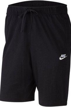 nike sportswear sweatshort »nike sportswear club men's jersey shorts« zwart