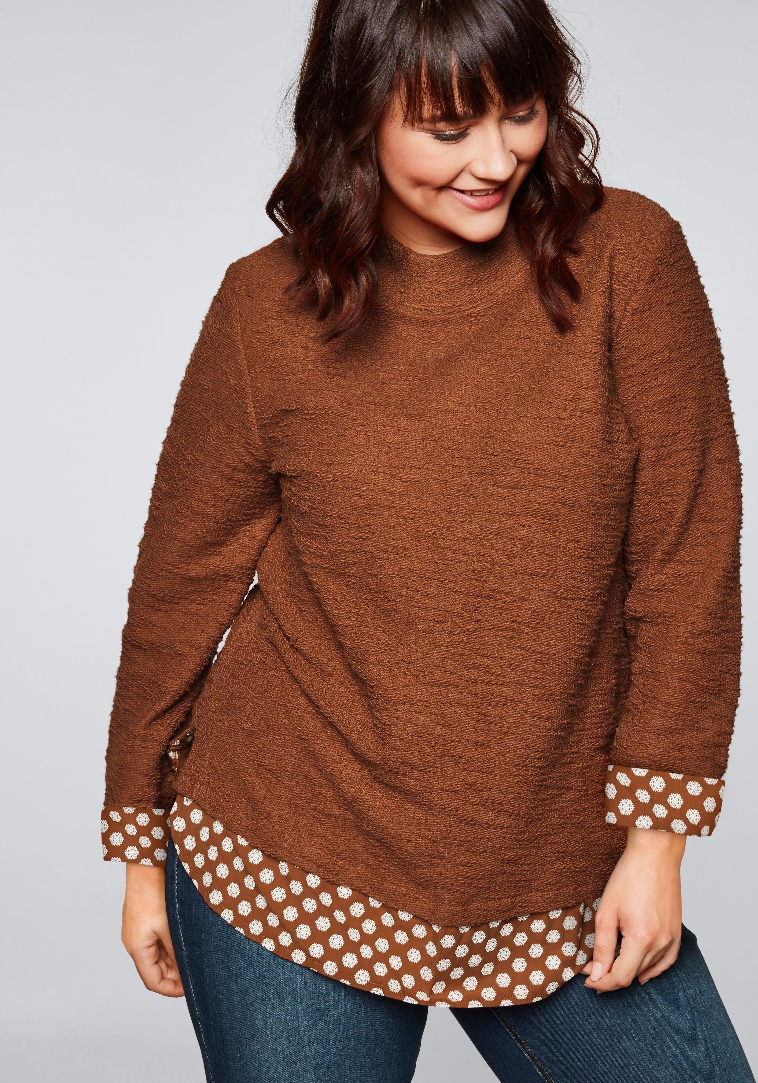 Sheego Casual sweatshirt nu online kopen bij OTTO