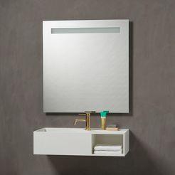 loevschall badspiegel »loekken« wit