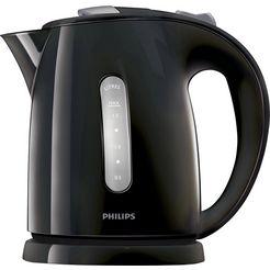 philips waterkoker, hd4646-20 daily collection, 1,5 l, 2400 watt, anti-kalk, schwarz, 1,5 liter, 2400 watt zwart