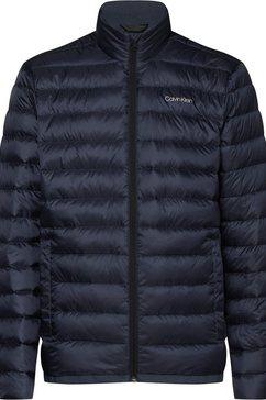 calvin klein gewatteerde jas blauw