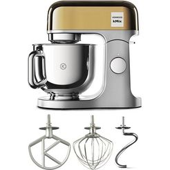 kenwood »kmx760yg kmix premium edition gold 3-dlg. patisserie-set« keukenmachine goud