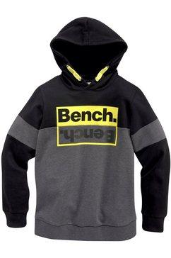 bench. hoodie met contrastkleurige details zwart
