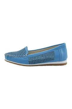 mocassins blauw