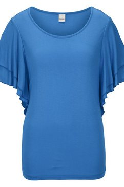 shirt met ronde hals blauw