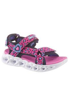 skechers kids sandalen »blinkschuh heart lights sandals« roze