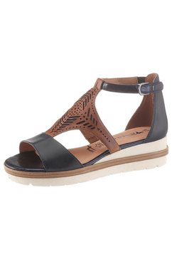 tamaris sandalen »eda« blauw