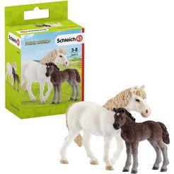 schleich speelfigurenset (42423), »farm world, pony merrie met veulen« multicolor