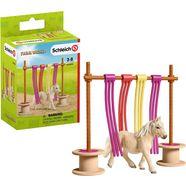 schleich speelfiguur farm world, pony fladderend gordijn (42484) multicolor