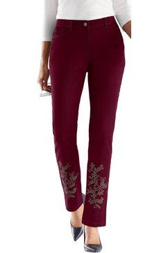 lady fair lady jeans met metalen details rood