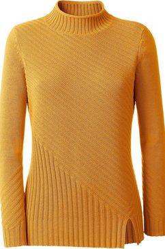 casual looks trui met staande kraag geel