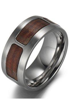 firetti ring »in glaenzender und matter optik« bruin